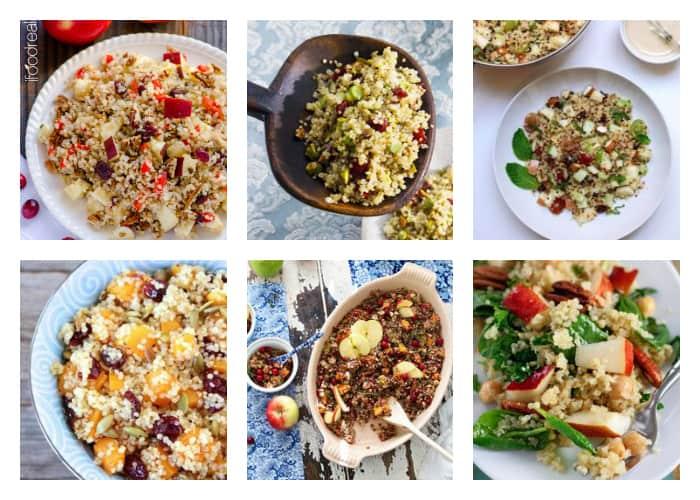 The Best Quinoa Thanksgiving Recipes - Savory Fruit Quinoa Salads