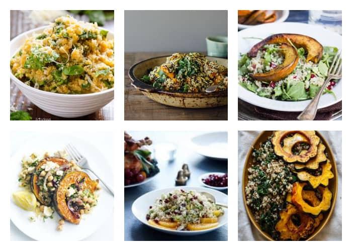 The Best Quinoa Thanksgiving Recipes - Squash Quinoa Salads