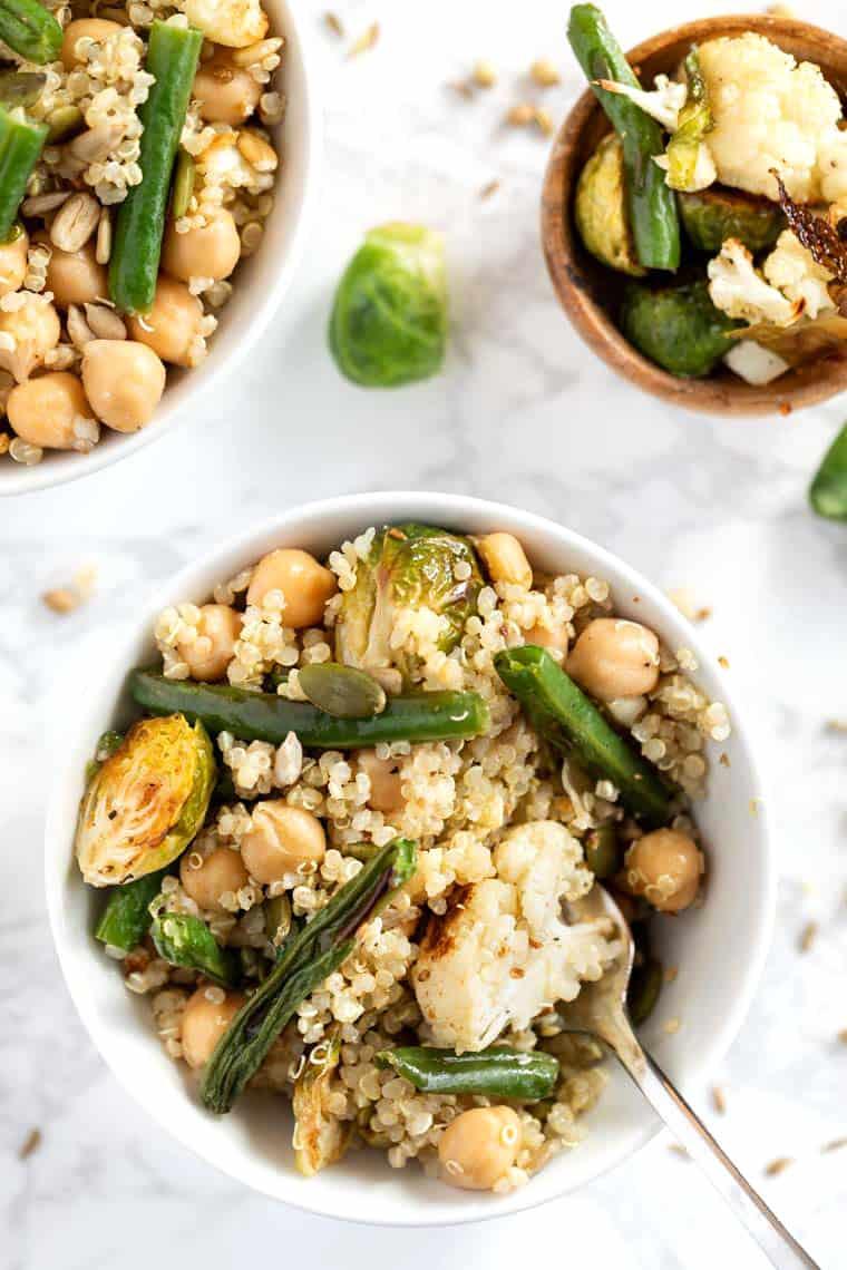 Easy Roasted Veggie Quinoa Salad Recipe