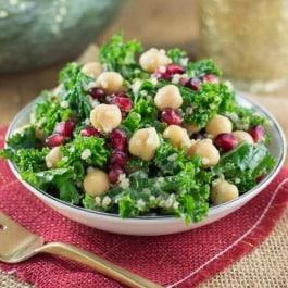Christmas Kale Quinoa Salad