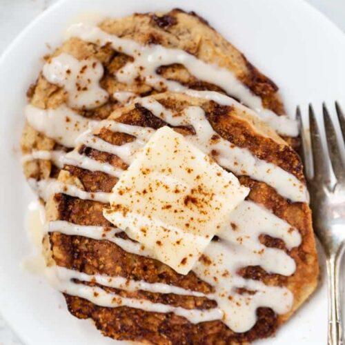 Healthy Cinnamon Swirl Pancakes