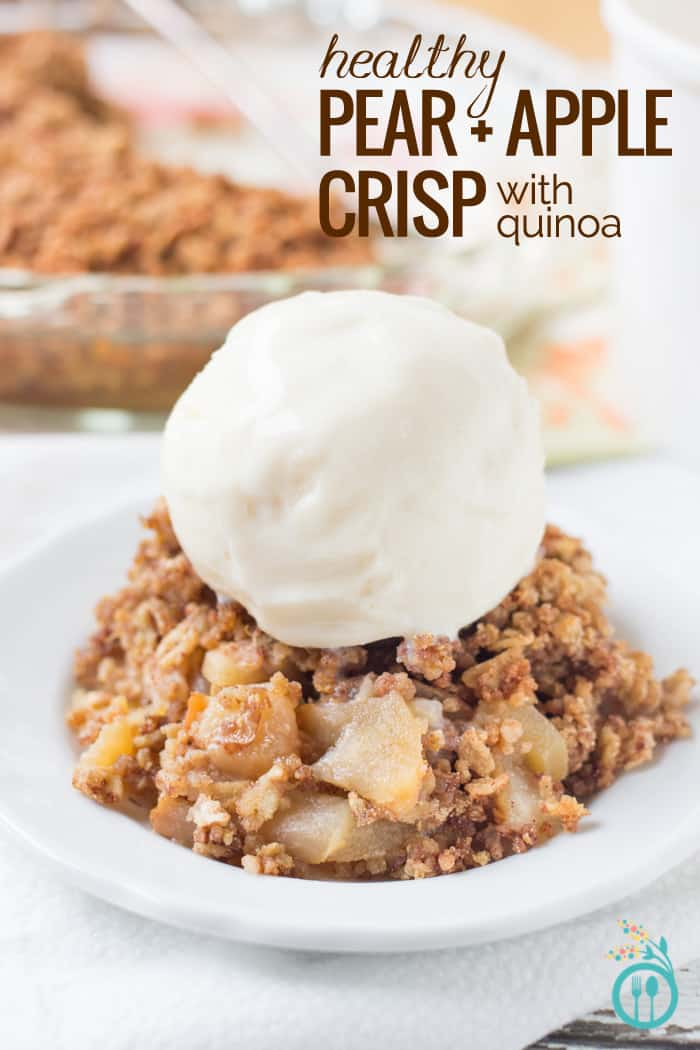 healthy pear and quinoa apple crisp - simply quinoa