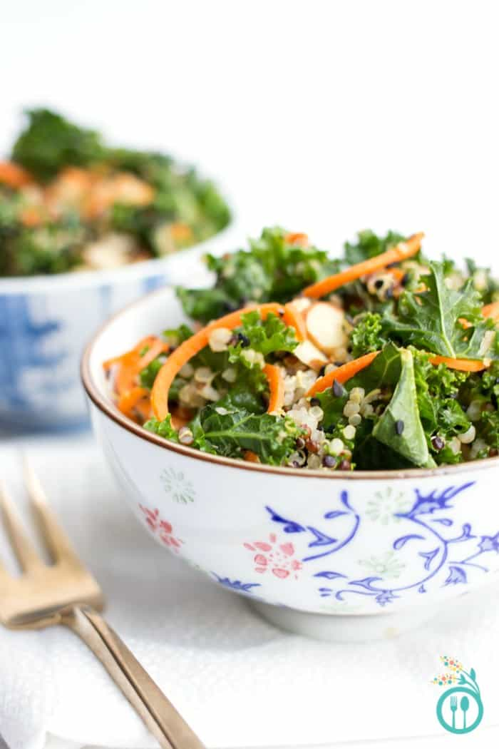 Make this Asian Kale Quinoa Salad for dinner - you won't regret it! It's easy, healthy and delicious!