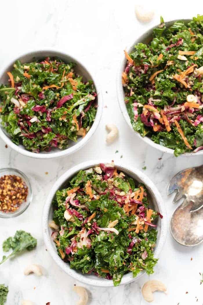 Asian Kale Quinoa Salad with Radicchio