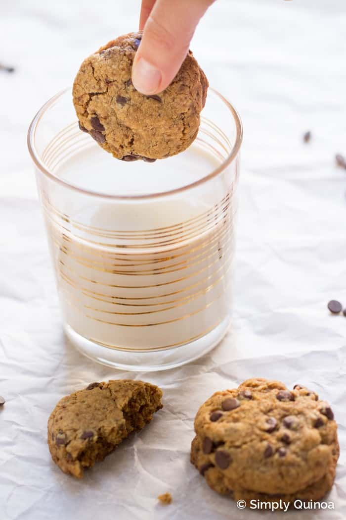 The BEST EVER Coconut Oil Chocolate Chip Cookies - made without flour, butter or refined sugar!