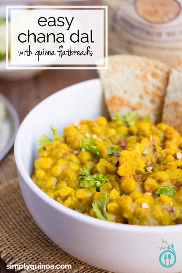 Easy chana dal with coconut quinoa flatbreads simply quinoa easy indian chana dal recipe with a simple quinoa flatbread forumfinder Image collections