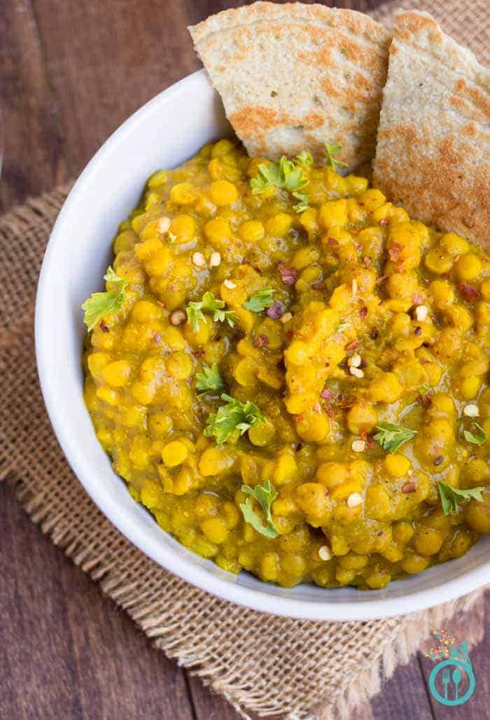 Easy Indian Chana Dal Recipe with a Simple Quinoa Flatbread