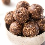 no bake turtle cookie quinoa energy bites with dates and pecans