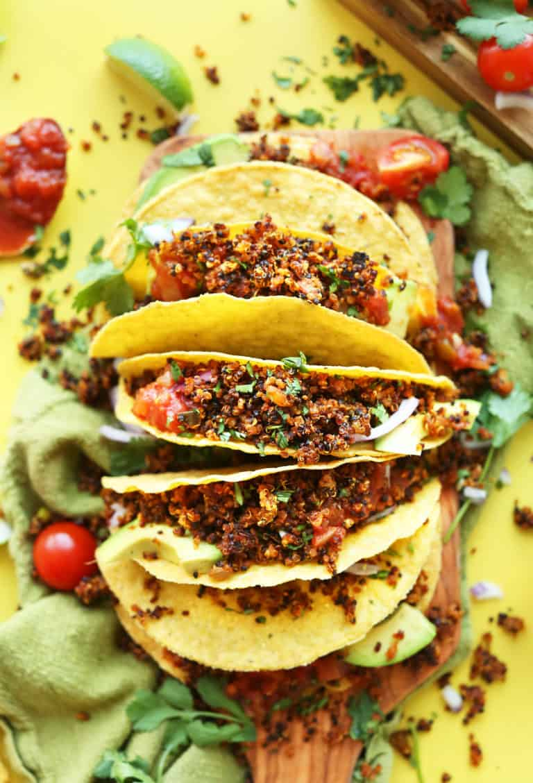EASY Quinoa Taco Meat that's crispy, flavorful, and protein-packed!