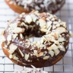 Almond Flour Banana Donuts made with a Dairy-Free Chocolate Glaze