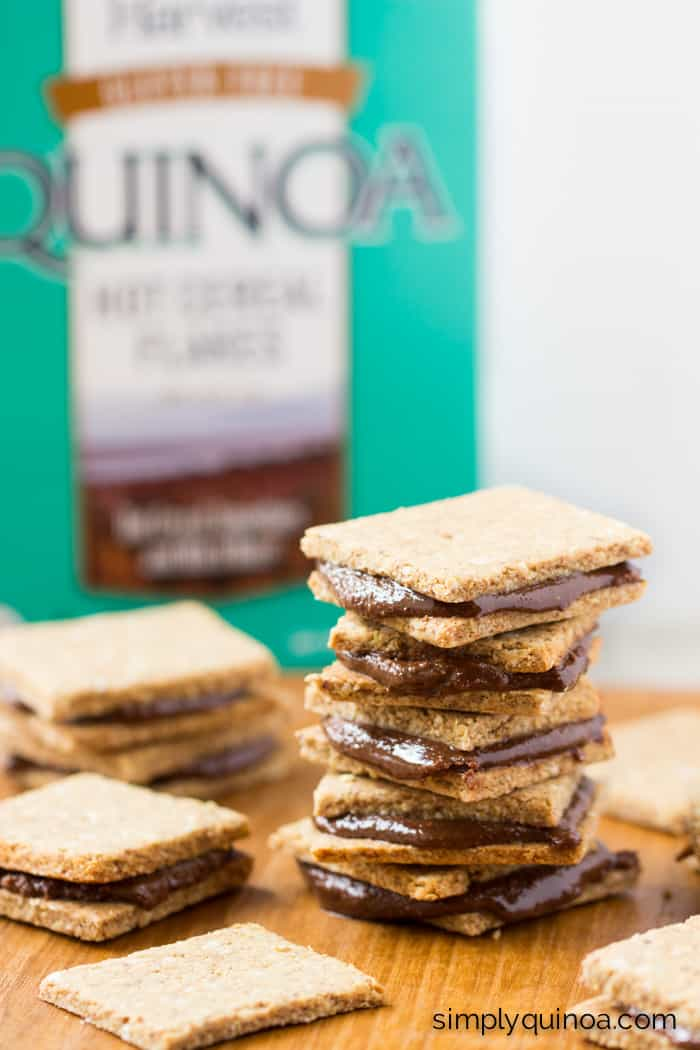 Peanut Butter Quinoa Crackers + Homemade Nutella Sandwiches - healthy, decadent and gluten-free!