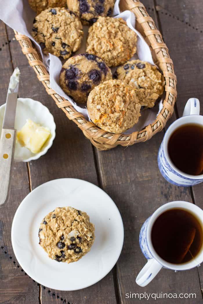 Gluten-Free Quinoa Muffins - in three different flavors!