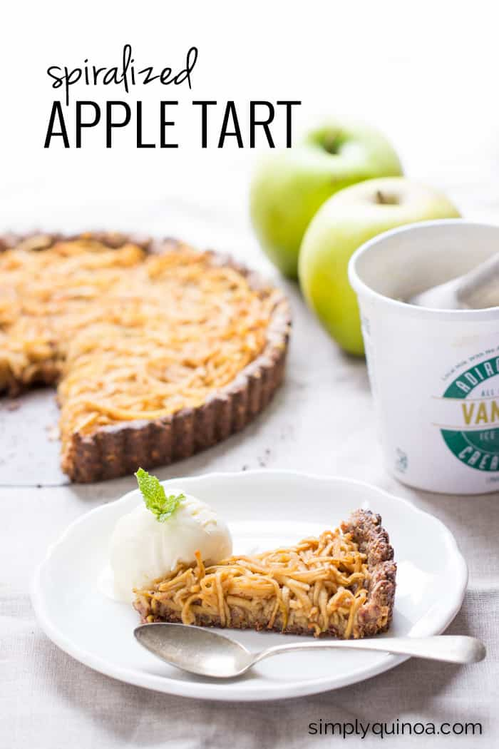 Spiralized Apple Tart - a healthy and delicious dessert that is also gluten-free and vegan!