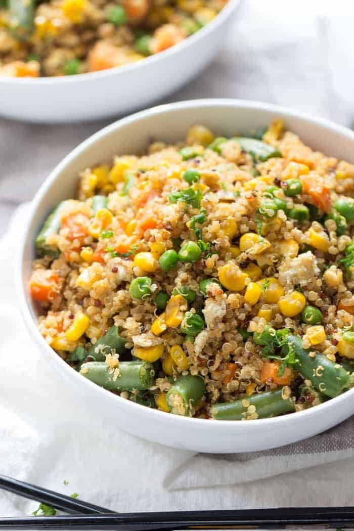10 minute vegetable quinoa fried rice simply quinoa super easy vegetable quinoa fried rice thats made in less than 10 minutes and uses only ccuart Choice Image