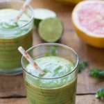 Grapefruit Margarita Green Smoothies - a super healthy way to start your day with the flavor of a beloved cocktail, just without the alcohol and sugar