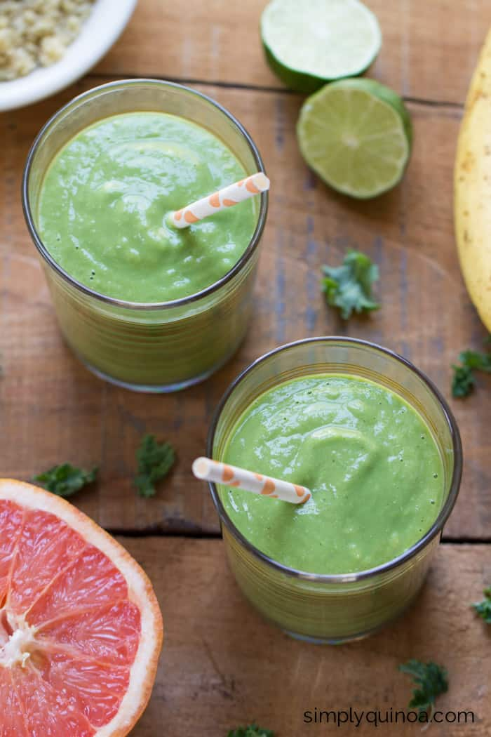 Grapefruit Margarita Green Smoothie - a healthy, flavorful and full of bright citrus!