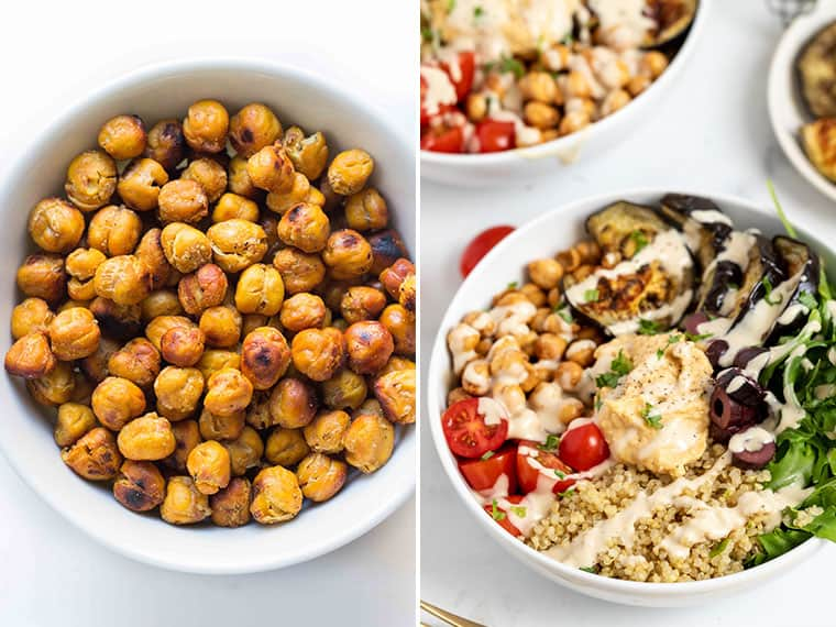 Quinoa Bowl Recipe with Crispy Chickpeas