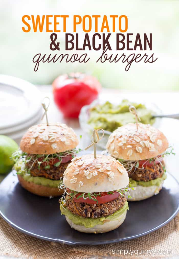 The ULTIMATE veggie burger >> Sweet Potato + Black Bean Quinoa Burgers [gluten-free + vegan]