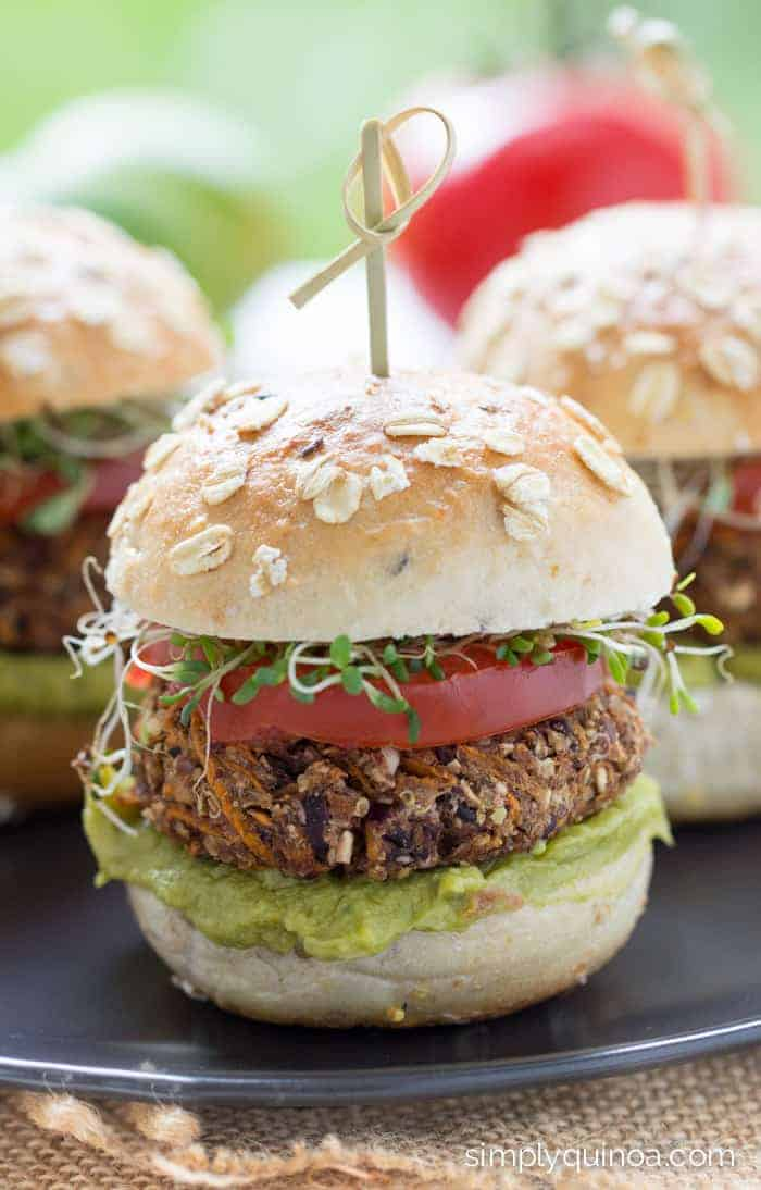 These Sweet Potato Black Bean Quinoa Burgers are the best veggie burgers you'll ever taste!