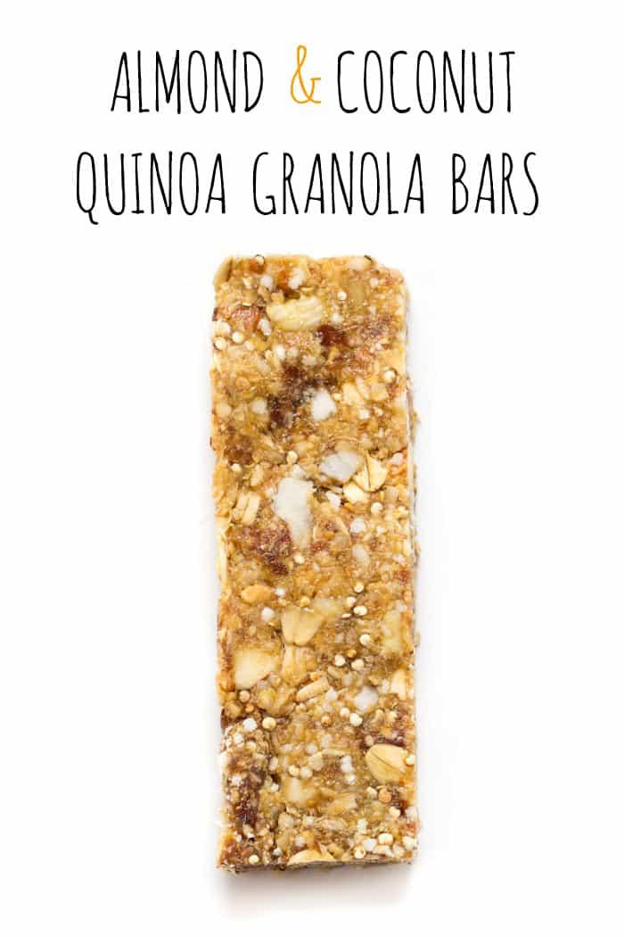 Almond + Coconut Quinoa Granola Bars [gluten-free] // simplyquinoa.com