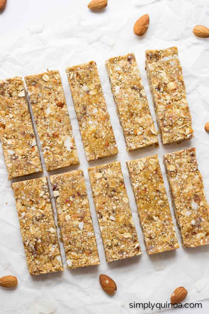 Make the homemade quinoa granola bars for a healthy and portable on-the-go snack!