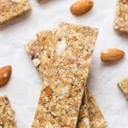 Almond Coconut Quinoa Granola Bars