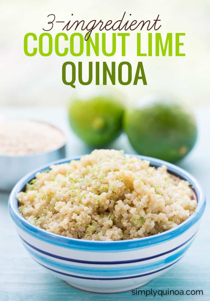 Coconut Lime Quinoa // made with only three ingredients, this dish goes with EVERYTHING!