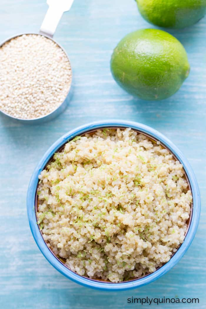 Need a recipe that goes with everything? Try this coconut lime quinoa! It's only three ingredients and tastes delicious!