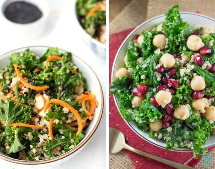 Healthy Kale Salad Recipes | simplyquinoa.com