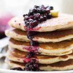 Lemon Blueberry Quinoa Pancakes with a quick Blueberry Chia Sauce | www.simplyquinoa.com