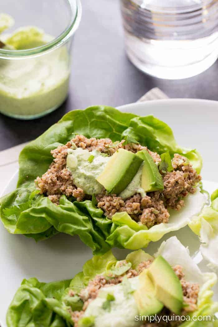 Skip the tortillas and wraps and try these instead >> Mushroom + Quinoa Lettuce Wraps | simplyquinoa.com