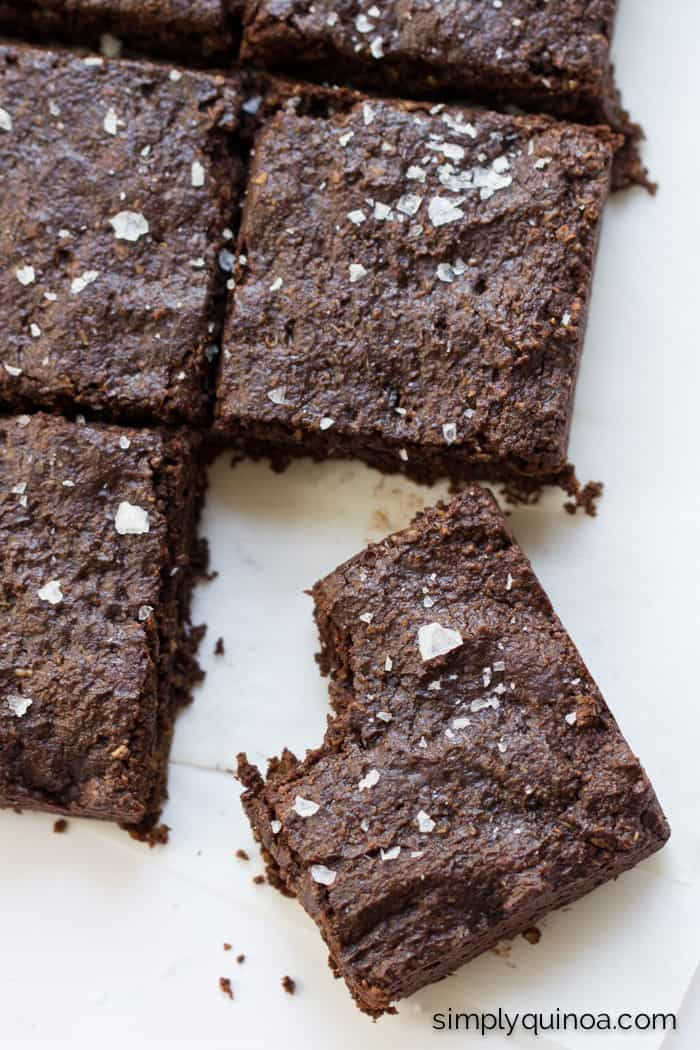 My absolute favorite brownie recipe EVER! These healthy quinoa brownies are fudgy, rich and delicious!