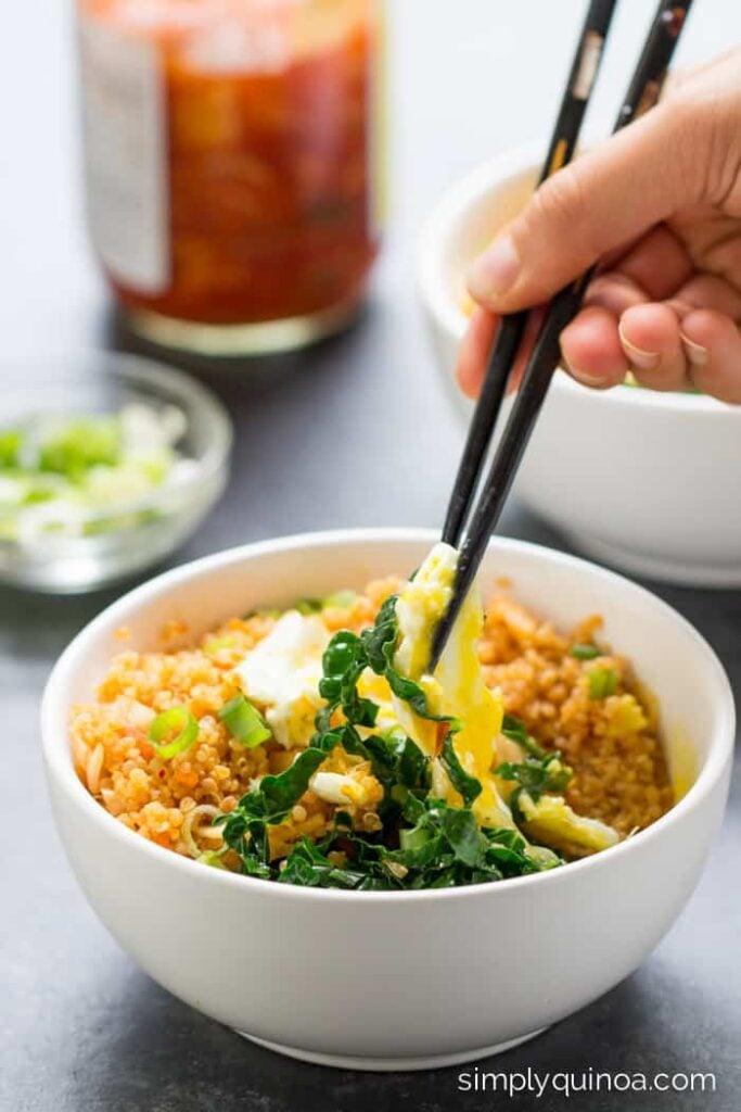Kimchi Grain Bowls