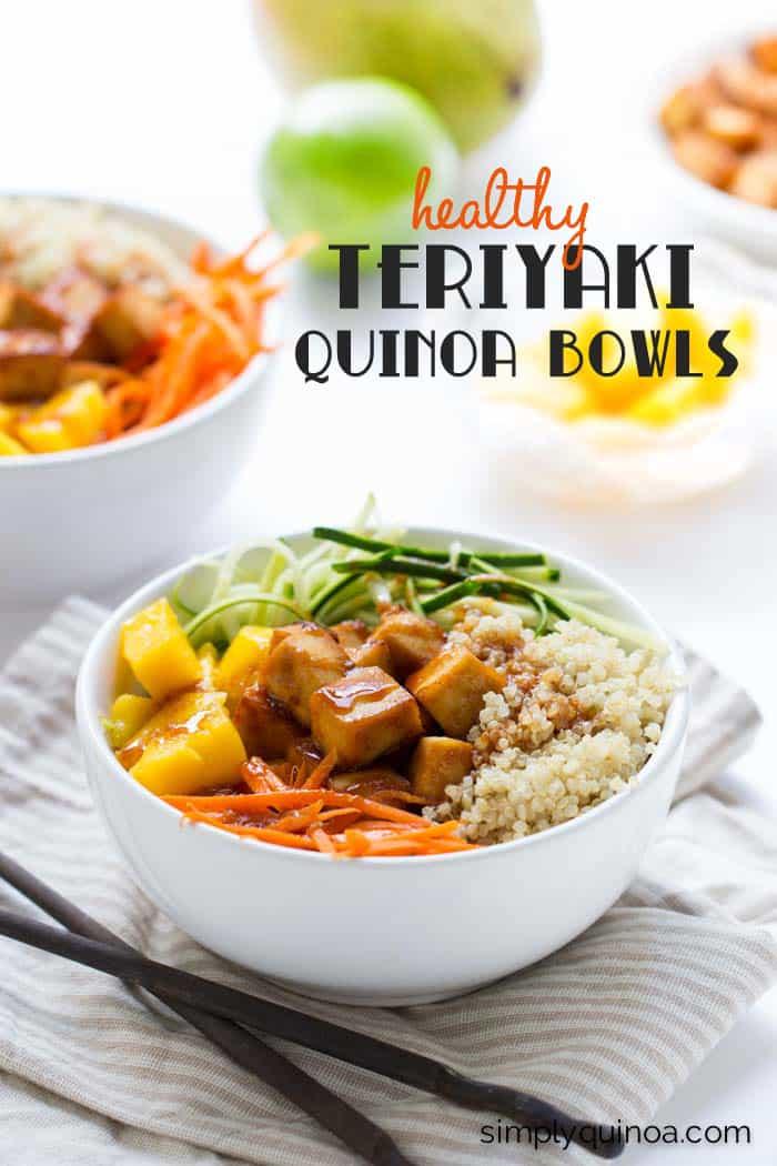 Teriyaki Quinoa Bowls | www.simplyquinoa.com | These vegetarian quinoa bowls make for an easy and delicious weeknight meal