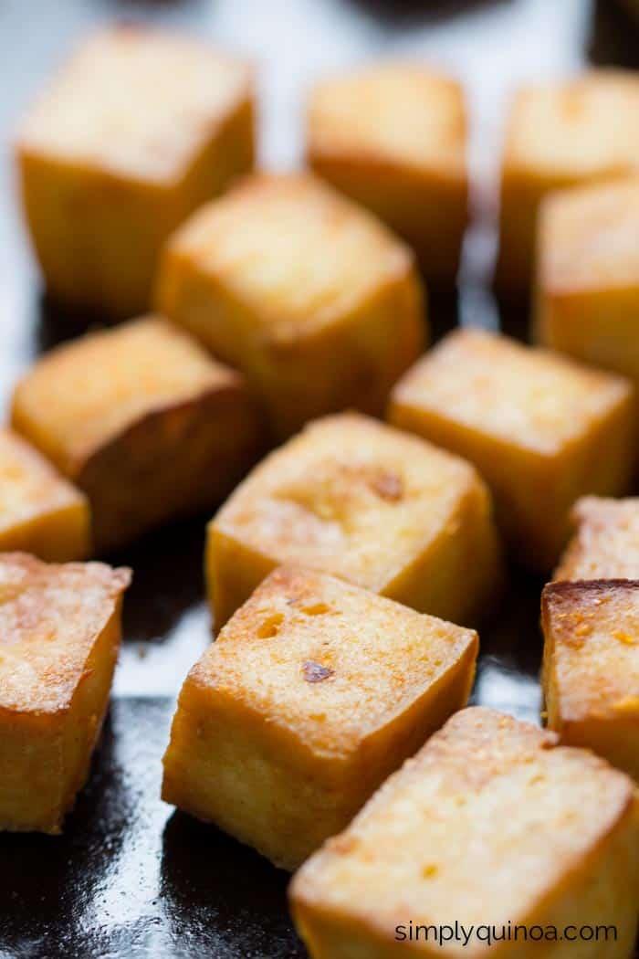 How to make baked tofu | www.simplyquinoa.com | with a simply Asian marinade