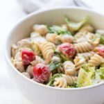 Vegan Caesar Pasta Salad - rich, creamy and protein packed it makes the perfect, healthy side dish!