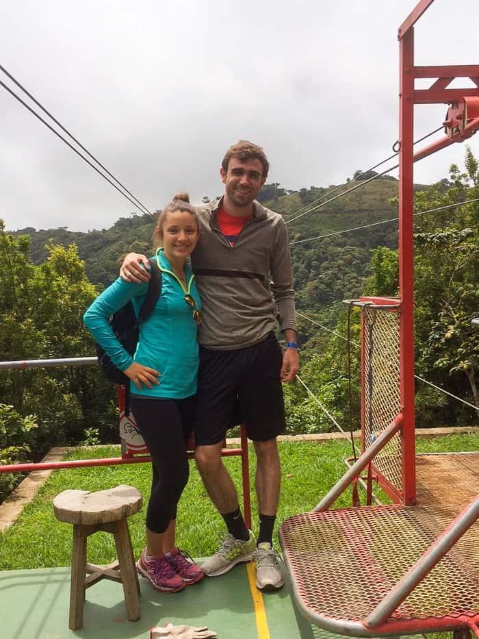 Bungee jumping in Costa Rica | www.simplyquinoa.com