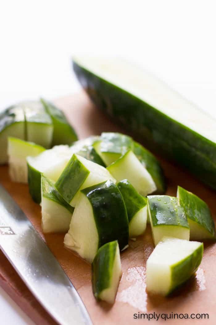 Cucumber Avocado Quinoa Salad with a creamy herb dressing | simplyquinoa.com | gluten-free + vegan