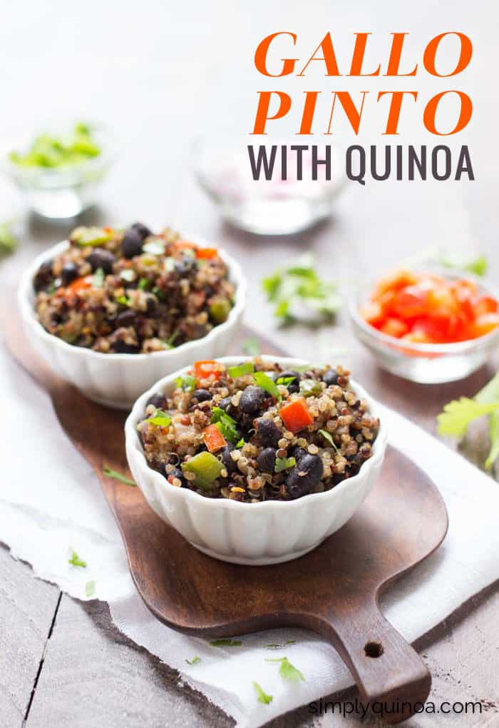 Healthy Gallo Pinto made with quinoa instead of white rice! www.simplyquinoa.com
