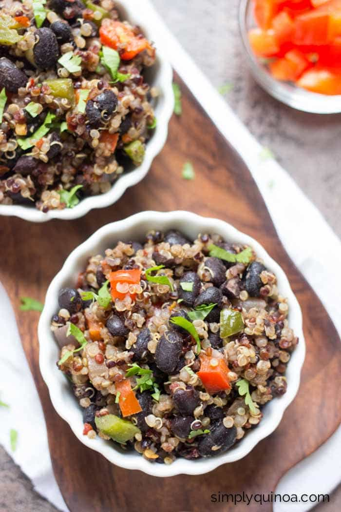 How to make Gallo Pinto using quinoa instead of rice | www.simplyquinoa.com | a healthy and delicious side dish for any meal!