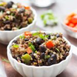 Gallo Pinto with Quinoa - traditional Costa Rican bean dish using quinoa instead of rice | www.simplyquinoa.com | gluten-free + vegan