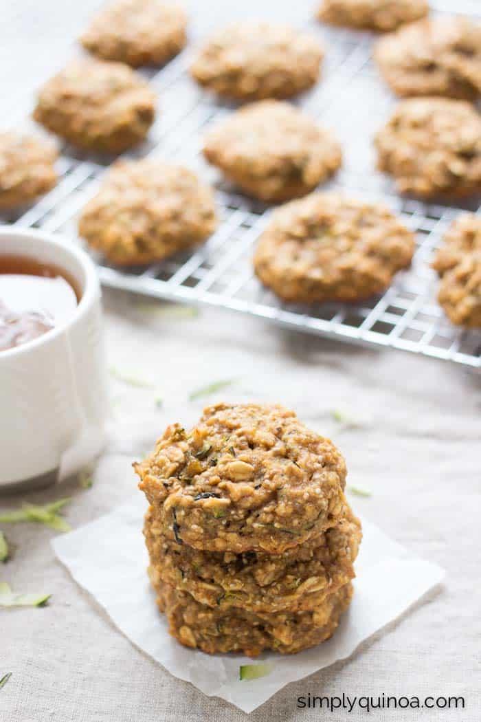 Zucchini Bread Quinoa Breakfast Cookies Simply Quinoa