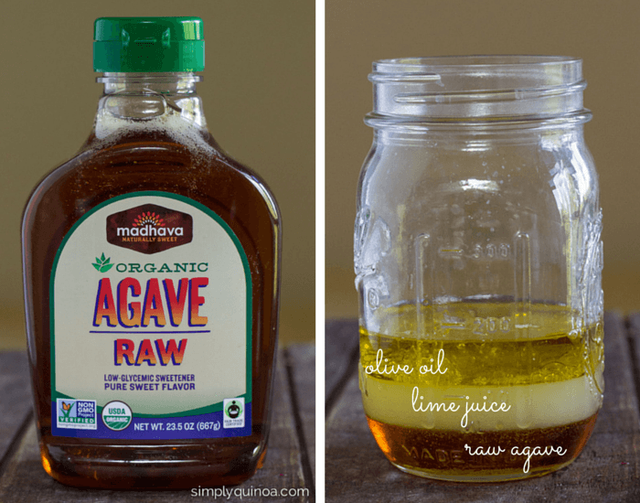 An agave lime dressing that uses only 5 ingredients! So delicious too | simplyquinoa.com
