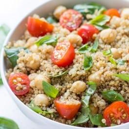 """""""Caprese"""" Quinoa Salad"""