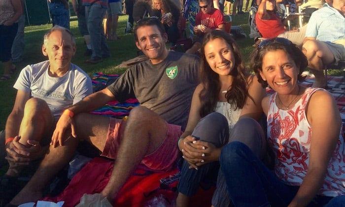 Rimmer Family Picture from the Bonnie Raitt concert in Burlington, VT