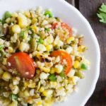 The PERFECT summer salad: Grilled Corn and Quinoa with an agave-lime dressing | simplyquinoa.com