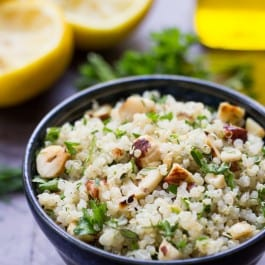 Lemon Herb Quinoa with Toasted Hazelnuts
