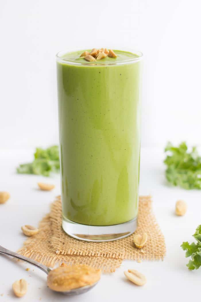 Peanut Butter Green Smoothie with Quinoa from the NEW cookbook from Alyssa Rimmer, Quinoa for Breakfast