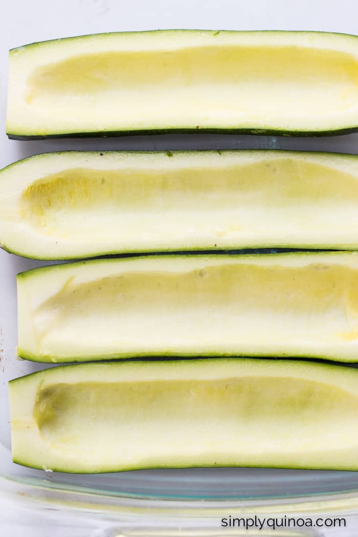 Quinoa Stuffed Zucchini Boats - a fresh, simple way to enjoy the end of summer | recipe on simplyquinoa.com