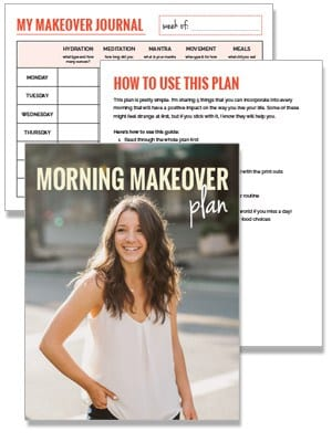 The Morning Makeover Plan - a new morning routine from Alyssa Rimmer of simplyquinoa.com